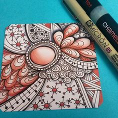 Loving this zia drawing by @jessicasandersart with theri Chameleon Pens.  #pigmamicron #chameleonpens #vermilion #zia #doodleart