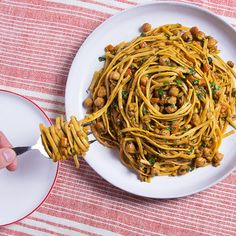 Moroccan Linguini:  Make a Moroccan chickpea stew, then turn it into the ultimate one-pot pasta meal.