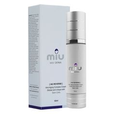 Miu DERMA [AG REVERSE] ANTI AGEING COMPLEX CREAM GLOBAL & UNIQUE WITH STEM CELLS - Powerful firming and lifting & recovery of the skin's condition & Anti-Wrinkle and Ageing. Binds tremendous amount of moisture to the skin due to its high content Hyaluronic Acid, Special Peptides and Stem Cells rejuvenate the skin and accelerates recovery of the skin's tissues along with unique Oxygen to plump the skin and diminish wrinkles.