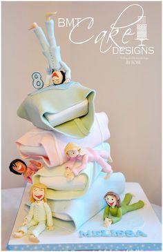 Tartas de cumpleaños - birthday Cake - Sleepover Party - by BMTCakeDesigns @ CakesDecor.com - cake decorating website