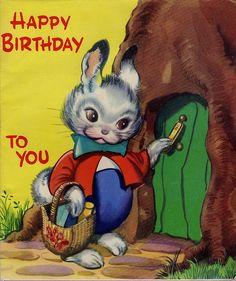Vintage Birthday Card 1960
