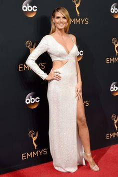 Heidi Klum in Michael Kors at The 68th Emmy Awards