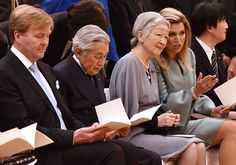 King Willem-Alexander and Queen Maxima of The Netherlands accompanited by Emperor Akihito and Empress Michiko attend the Food Agribusiness conference at the Toranomon Hills Forum in Tokyo, Japan, 31 October 2014
