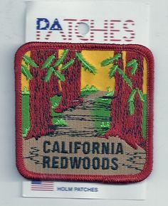 Souvenir Patch California Redwoods | eBay