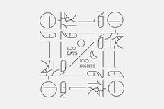 """Check out this @Behance project: """"100 Days 100 Nights"""" https://www.behance.net/gallery/52785169/100-Days-100-Nights"""