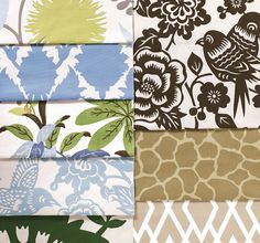 """""""Modern Prints Fabric Collection"""" though I think it can be used with transitional decor as well. """"Clean and colorful graphic looks are featured in many of our 400+ new prints. Select from silhouette florals, retro patterns, botanical and fretwork designs and animal skin patterns - plus traditional designs in fresh colors."""""""
