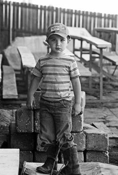 Country Boy - love the background   need to work on the clothes