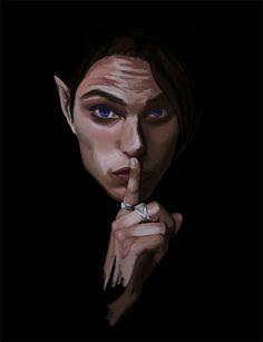 My favorite Rhysand fanart <3. Artist: bloodydamnit.tumblr.com