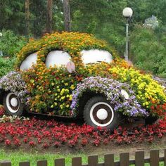 Are you the owner of an old VW Beatle! Redecorate it.