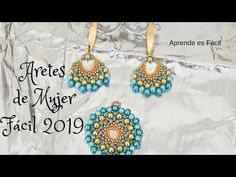 Aretes de mujer facil 2019 #aretes #handmadeearring #tecnicacasandra - YouTube