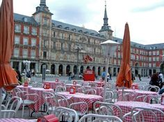This was my first stop in Madrid, Spain on my very first trip out of the country. I ate my first meal at one of those little tables in the Plaza Major.