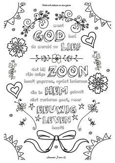 #001   Want God had de wereld zo lief… – kleurversjes.nl