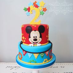 Mickey Mouse Clubhouse cake By K Noelle Cakes