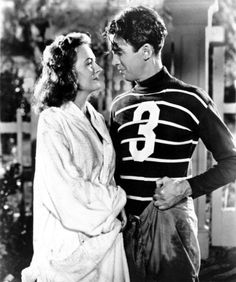 George Bailey (James Stewart) and Mary Hatch (Donna Reed). #christmas, #holidays, #movies