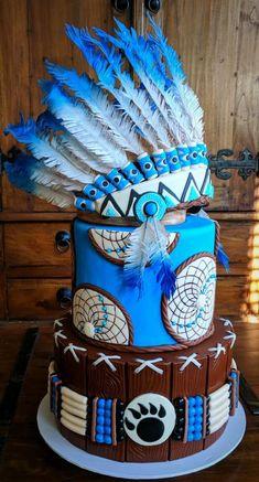 Native American Indian Cake - cake by Lisa-Jane Fudge