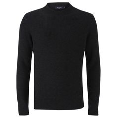 Paul Smith Jeans Men's Crew Neck Jumper - Black ($180) ❤ liked on Polyvore featuring men's fashion, men's clothing, men's sweaters and black