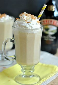 coconut drinks Dairy Free is part of Dairy Free Pineapple Coconut Smoothie Foodal Com - BBC a delicious, Banana, BAILEYS, Coconut drink frosty and tropical Bbc Drink, Food And Drink, Bbc Good Food Recipes, Cooking Recipes, Yummy Food, Smoothie Drinks, Smoothie Recipes, Smoothies, Banana Drinks