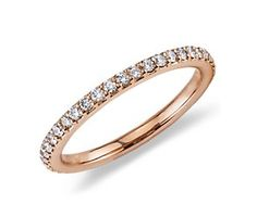 Pavé Diamond Eternity Ring in 18k Rose Gold (1/2 ct. tw.) #bluenile
