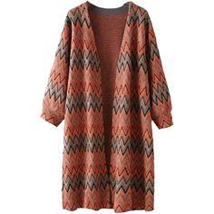 AWEIDS Aztec Geometric Print Batwing Knitwear Oversized Open Front... ($30) ❤ liked on Polyvore featuring tops, cardigans, brown open front cardigan, brown cardigan, aztec print open cardigan, batwing tops and oversized cardigan