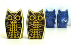 Owl salt and pepper made in 1966 by Hornsea Pottery and designed by John Clappison Retro Vintage, Vintage Items, Retro Chic, Vintage Style, Hornsea Pottery, Earthy Color Palette, Sculptures Céramiques, Mid Century Modern Kitchen, The Potter's Wheel