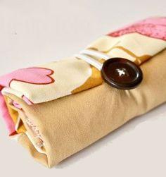 Sacola de compras de tecido dobrável passo a passo