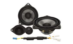 """BMW® 2-Way Component System Style-3  The T3-BMW3 is a direct fit replacement/upgrade speaker system for select BMW® model Motorcycles. Speaker features a BMW® factory connector, 1"""" silk tweeter and glass fiber woofer."""