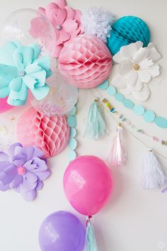 Super-girly unicorn party ideas for decorations, treats, and activities—featuring plenty of of sugar, sparkles, and magic. Birthday Party Games For Kids, Birthday Gifts For Kids, Kid Party Favors, Birthday Parties, Unicorn Birthday, Unicorn Party, Girl Birthday, Party Wall Decorations, Sparkle Party