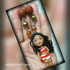 Moana polymer clay necklace