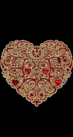By Artist Unknown. Bling Wallpaper, Heart Wallpaper, Pattern Wallpaper, Wallpaper Backgrounds, Iphone Wallpaper, Heart Art, Love Heart, Valentine Day Love, Valentines