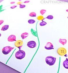 ❤ Tavaszi virág nyomda műanyag palackból - ötlet gyerekeknek ❤Mindy -  kreatív ötletek és dekorációk minden napra