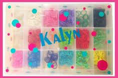 Personalized Rainbow Loom Rubber Band Craft Case GREAT CHRISTMAS GIFTS