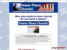 Product Name: Power Piano Chords!   Click here to get Power Piano Chords! at discounted price while it's still available…    All orders are protected by SSL encryption – the highest industry standard for online security from trusted vendors.  Power Piano Chords! is backed with a 60...
