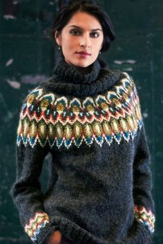 Items similar to Tolly Adler Icelandic Sweater Top Gift Lopi Wool Jumper Norwegian Sweater Hand knit Pull on Etsy Nordic Sweater, Sweater Set, Sweater Cardigan, Jumper, Fair Isle Knitting Patterns, Knit Patterns, Vogue Knitting, Hand Knitting, Knitting Yarn