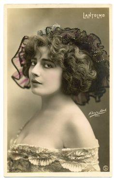 labelleotero:  Postcard SIP 2075. Caption: Lantelme. This pistcard also has a logo Boyer & Bert. Paul Boyer was a photographer and, as we know, a friend of Lantelme. Photo made circa 1908 via