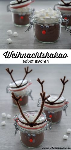 Make your own Christmas cocoa - Schnin& Kitchen- Weihnachtskakao selber machen – Schnin's Kitchen Make your own Christmas cocoa mix – hot chocolate as a present from the kitchen for Christmas with a delicious recipe made from only 2 ingredients. Chocolate Merci, Chocolate Navidad, Hot Chocolate, Make Your Own, Make It Yourself, Diy Crafts To Do, Holiday Desserts, Christmas Cookies, Diy Gifts