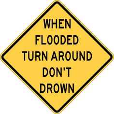 NWS Turn Around Don't Drown Program, Signs and Resources