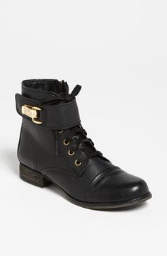 Major shoe love for these stylish leather combat boots.