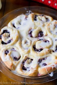 Blueberry Sweet Rolls with Lemon Glaze - Recipes | Riverbender.com