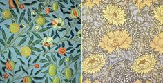 As someone who likes arts and crafts and mid-century modern, I can rarely make a decision on design. This William Morris wallpaper looks like it would work beautifully in my tiny four-square powder room under the stairs.
