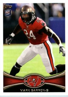 2012 Topps Football Card # 47 Mark Barron RC - Tampa Bay Buccaneers (RC - Rookie Card) (NFL Trading Card) by 2012 Topps. $3.95. 2012 Topps Football Card # 47 Mark Barron RC - Tampa Bay Buccaneers (RC - Rookie Card) (NFL Trading Card)
