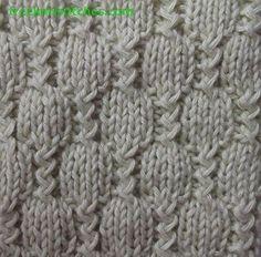 Stream knitting stitches