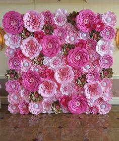 Papel rosa flor pared 8 ft x 8 ft papel Extra por PoshStudios