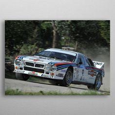 Lancia Rally 037 racing by Therod Design Martini, Wall Art Prints, Canvas Prints, Rally, Canvas Art, Wall Decor, Bmw, Racing, Posters