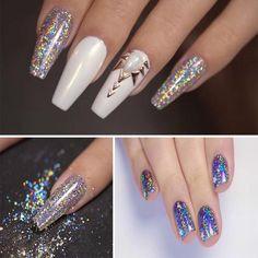 Holographic Laser Nail Art Glitter Powder Chrome Pigment Diy Manicure Decoration #ebay #Fashion