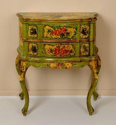 Fantastic handpainted table in Louis XV style.  40.JPG