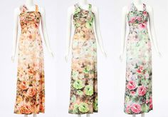 New Womens Summer Sexy Beach Holiday Floral Printed Maxi Long Dress Celeb Style