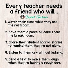 Teacher is a friend quotes and tag the first friend that comes to mind! Teacher Jokes, Teacher Stuff, Teacher Sayings, Funny Teacher Quotes, Your Teacher, Teacher Problems, Fun Sayings, Student Teacher, Teacher Tips