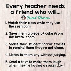 TAG your teacher BFF(s)!