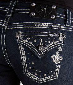 Miss Me Cross & Fleur Straight Stretch Jean #buckle #fashion www.buckle.com