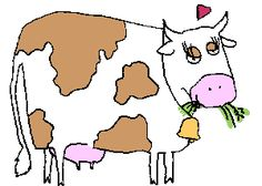 Animated Cow, Bridal Mehndi Dresses, Cute Cows, Mammals, Sew, Animation, Stickers, Facebook, Funny